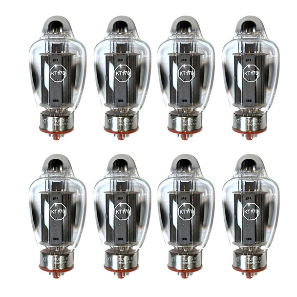 New Factory Matched Octet Tung-Sol KT170 Vacuum Tubes