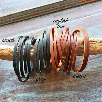 Leather Wrap Bracelet 1