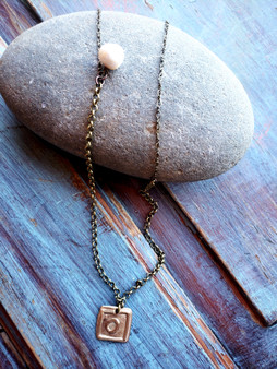 Brass & Pearl Necklace