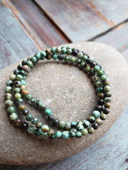 African Turquoise Crystal Bracelet (large beads)