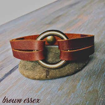 The Petite Leather and Brass Bracelet 1