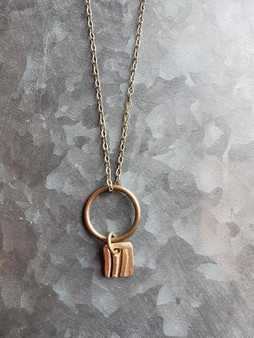 Petite Bronze Charm Necklace