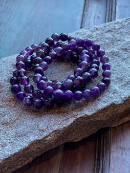 Amethyst Crystal Bracelet (large beads)
