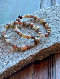 Botswana Agate Crystal Bracelet (large beads)