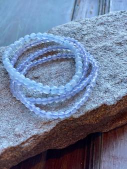 Blue Lace Agate Crystal Bracelet