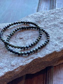 Kambaba Jasper Crystal Bracelet (small beads)