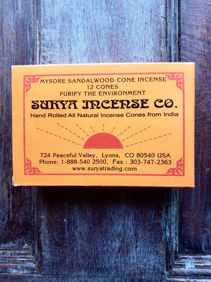 Surya Incense Cones