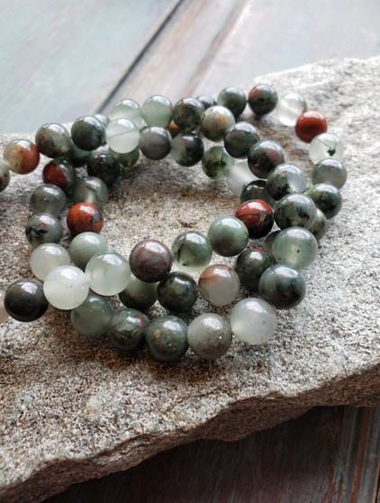 African Bloodstone Crystal Bracelet