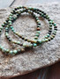 African Turquoise Crystal Bracelet (small beads