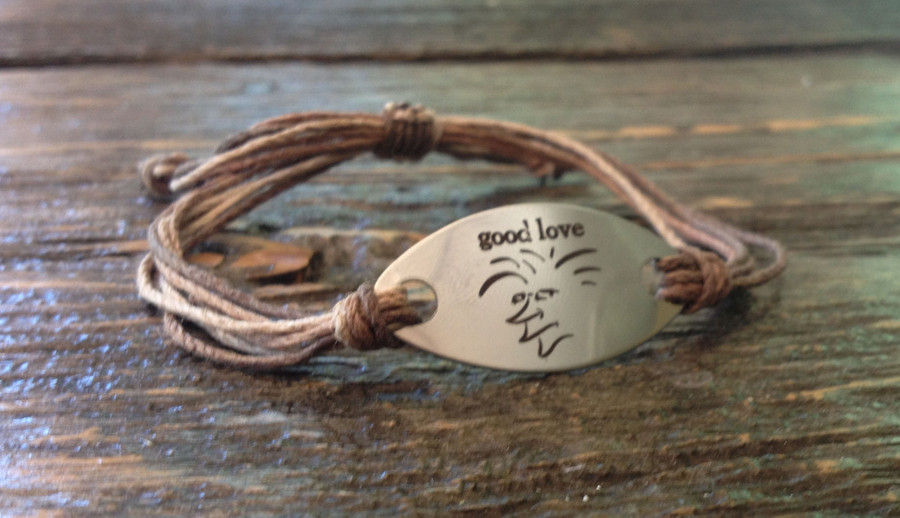 The Salty Surfer Tribal Good love Safari Sand hemp bracelet