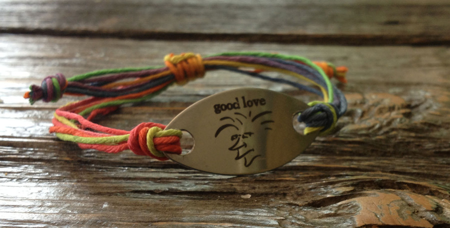 The Salty Surfer Tribal Good Love Toucan hemp bracelet