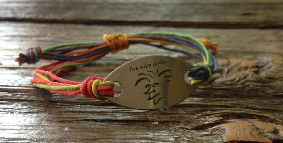 The Salty Surfer Tribal live salty or die Toucan Hemp Bracelet