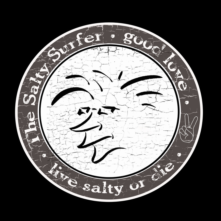 "Tribal vibe circle ""The Salty Surfer"" decal"