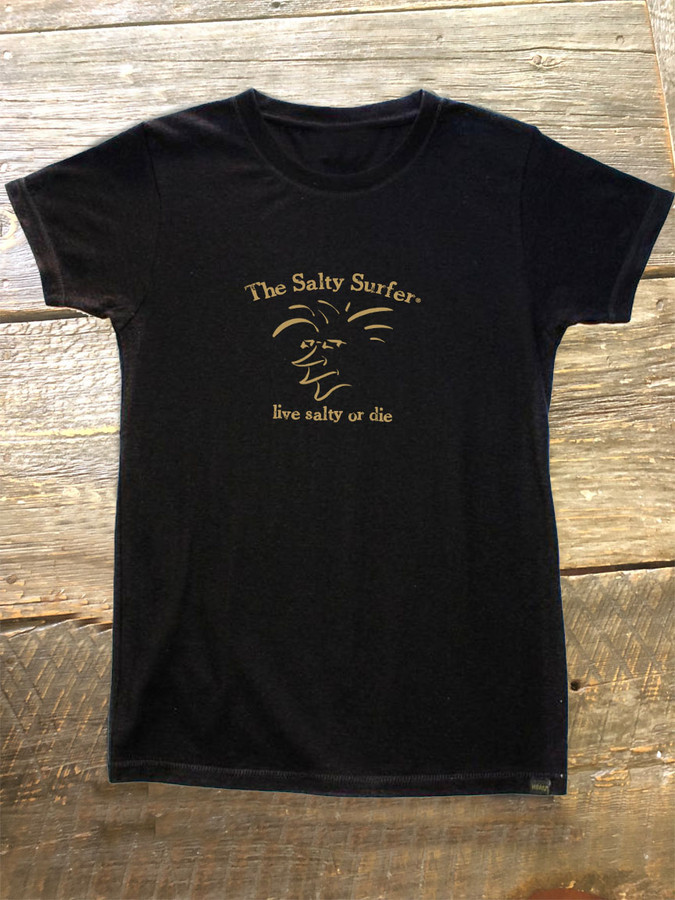 "The Salty Surfer Tribal Vibe Women's ""vintage"" HEMP t-shirt"