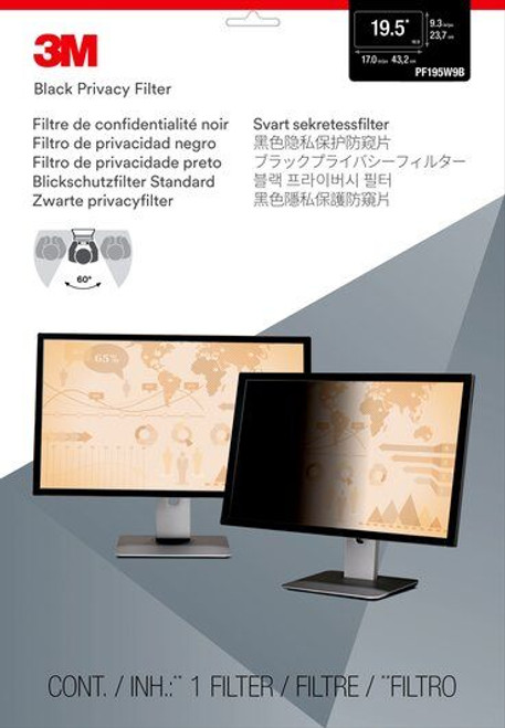 """PF195W9B - 3M Privacy Filter for 19.5"""" Widescreen Monitor - packaging"""