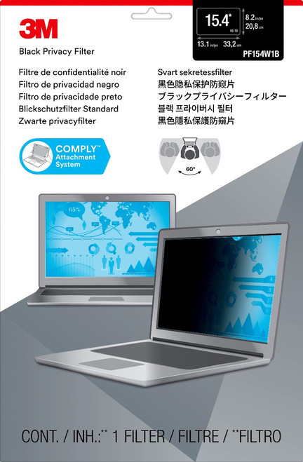 """PF154W1B - 3M Privacy Filter for 15.4"""" Widescreen Laptop (16:10) - packaging"""
