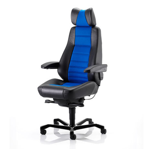 Controller Workchair Part Black Leather & Xtreme Fabric