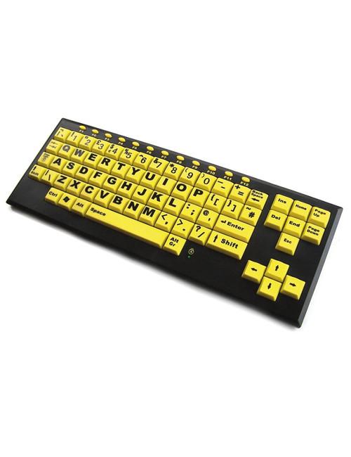 Monster Keyboard - HiVis Upper Case Letters Keyboard