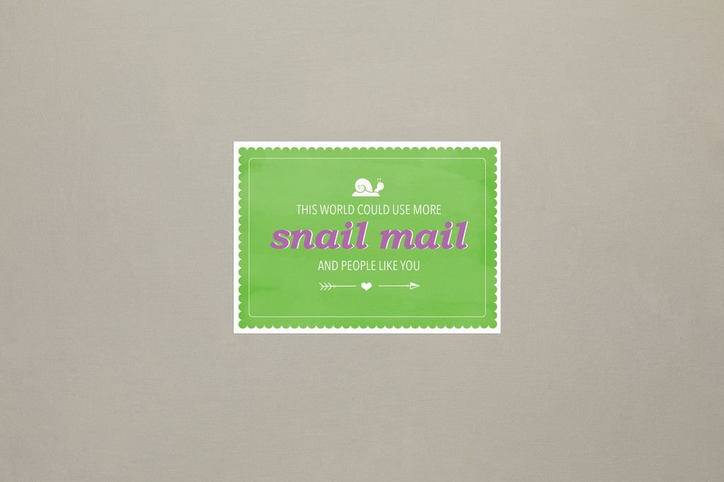This world could use more snail mail, truly!