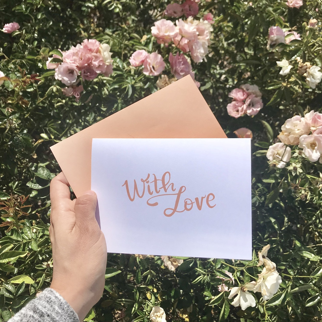 Folded Card: With Love
