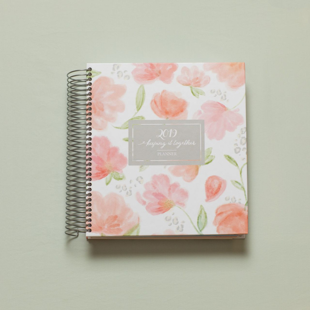 2019 daily keeping it together planner - floral cover