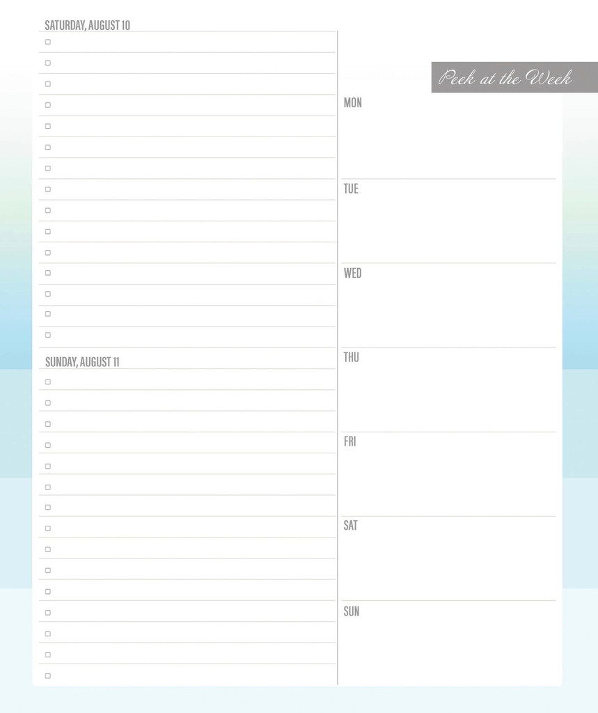 2019 Keeping it Together Planner | weekend page