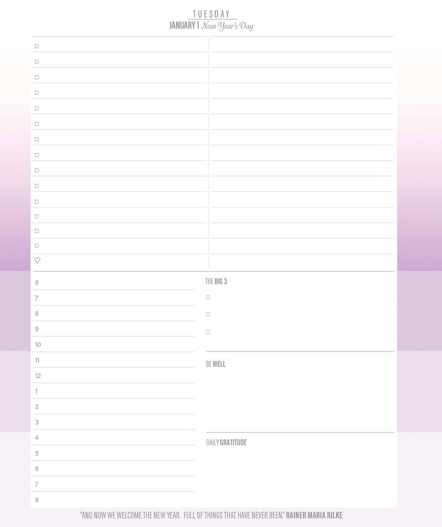2019 Keeping it Together Planner | weekday page