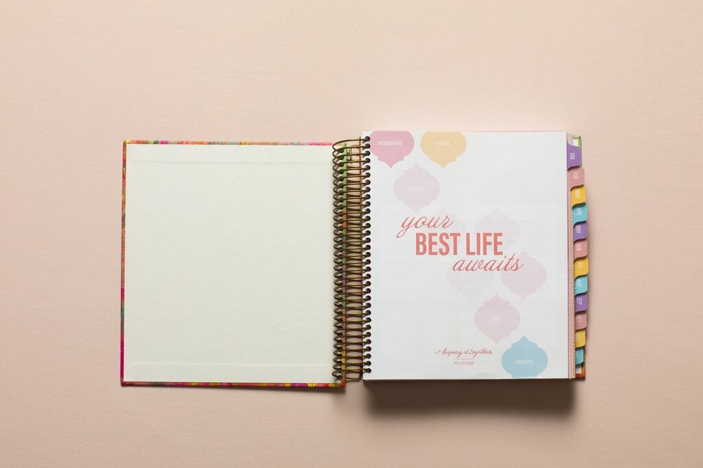 2019 Weekly Keeping it Together Planner | Crown Pink & Gold