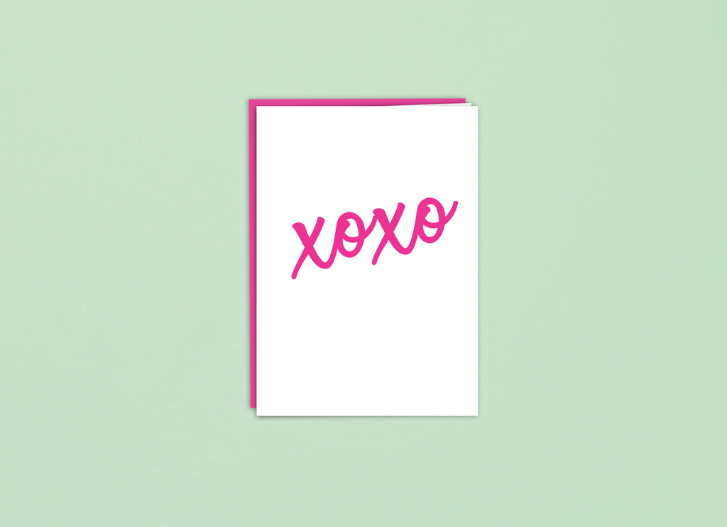 Folded Card | XOXO