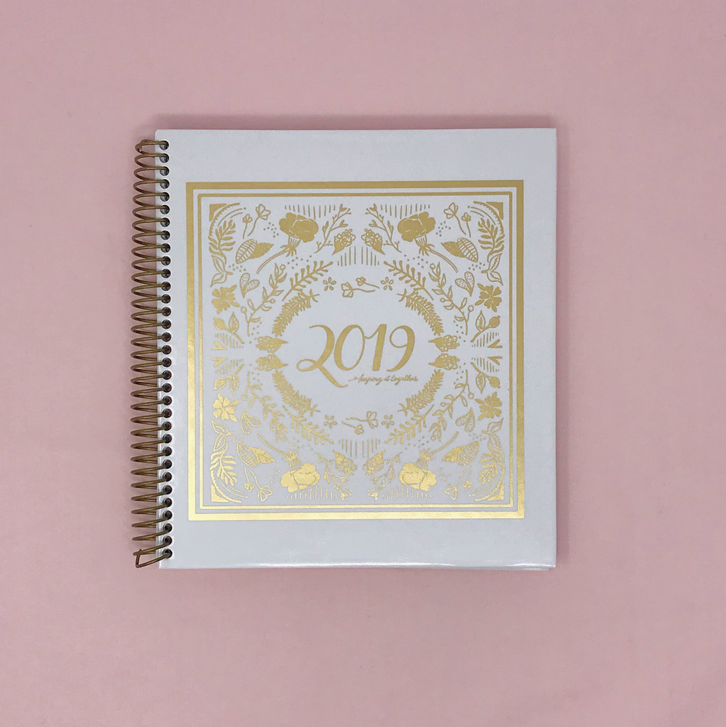 2019 Daily Keeping it Together Quarterly Planner | Crown White & Gold