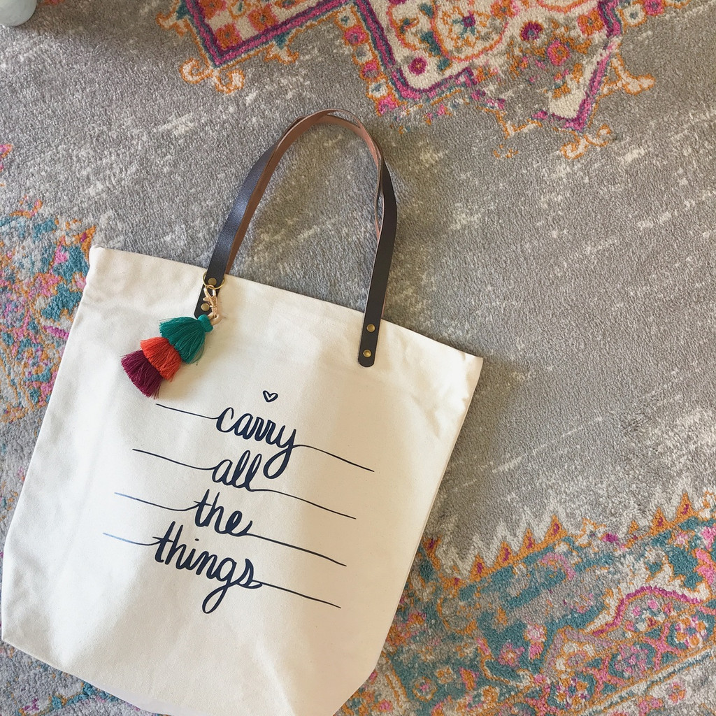 Carry All the Things | Luxe Leather Trimmed Tote