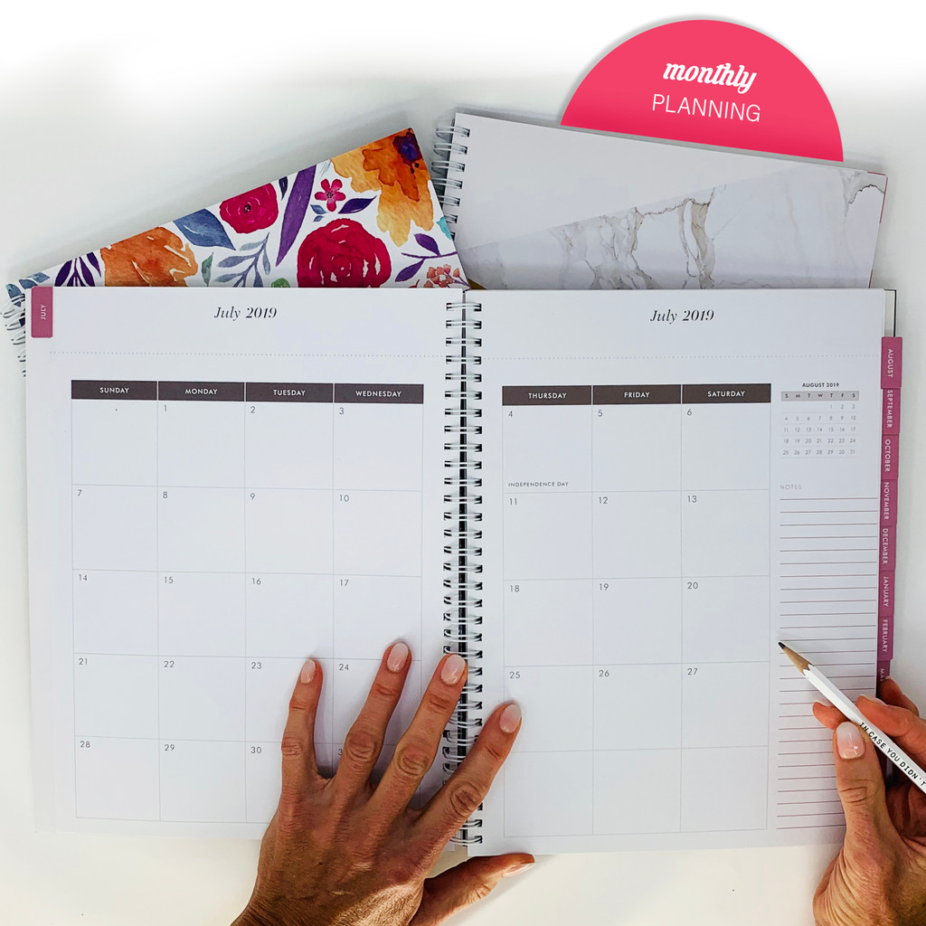 2019-2020 Abrie James by KITLIFE Weekly Academic Planner | Floral