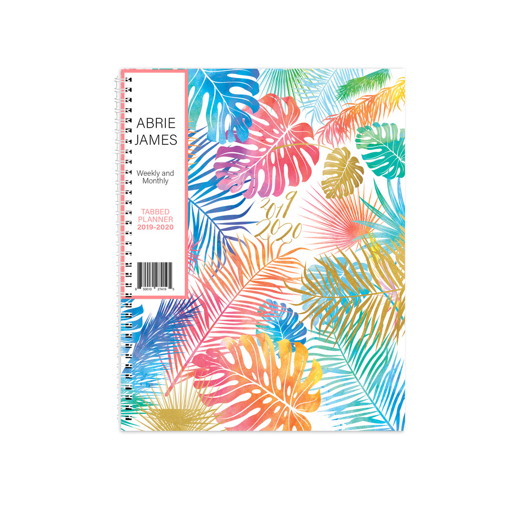 2019-2020 Abrie James by KITLIFE Weekly Academic Planner | Tropical