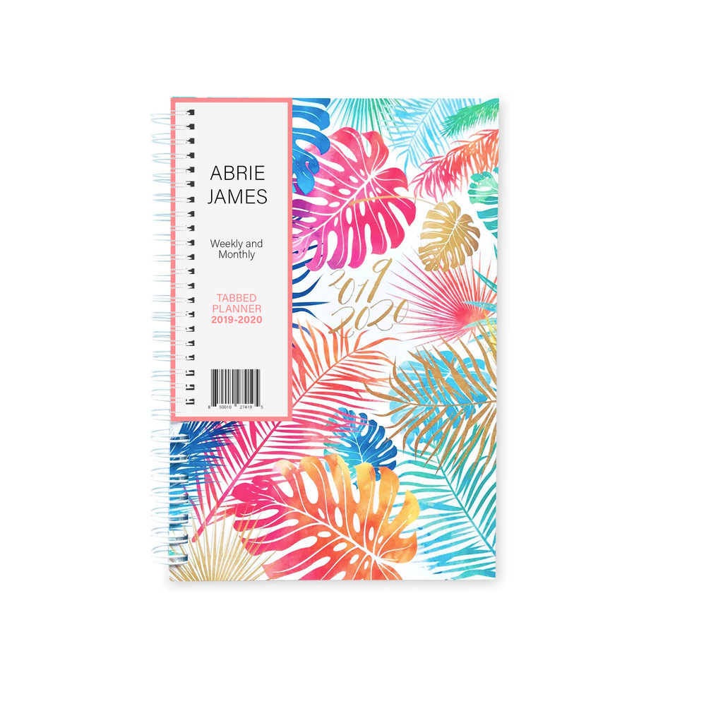 2019-2020 Abrie James by KITLIFE Mini Weekly Academic Planner   Tropical
