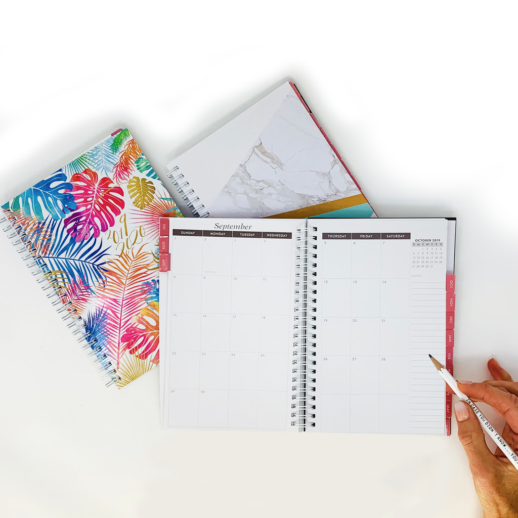 2019-2020 Abrie James by KITLIFE Mini Weekly Academic Planner | Floral