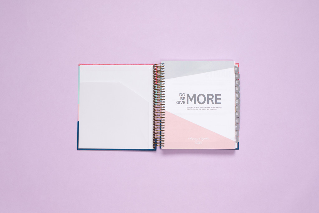 2020 Weekly Planner by kitlife with a hard cover in 6 differed design options. Front cover includes a pocket.