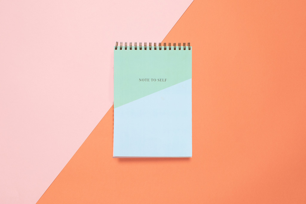 Top Spiral Notebook | Teal Colorblock