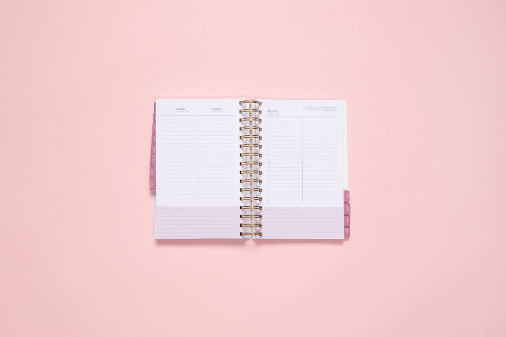 One page per weekday on the KIT Lite Daily Planner