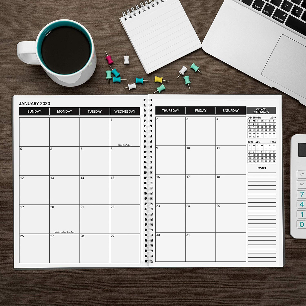 2020 Monthly Delane Planner | Gray