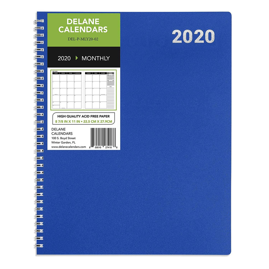 2020 Monthly Delane Planner | Blue