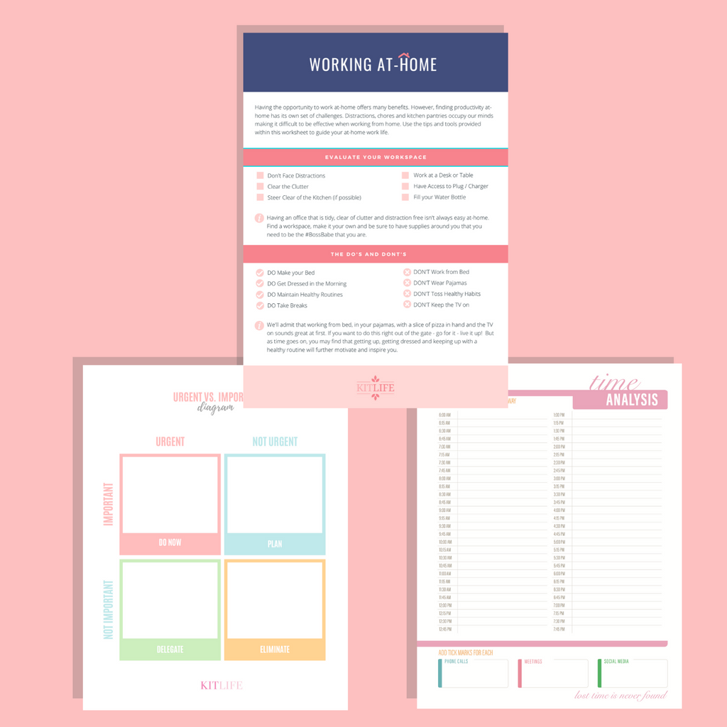 Free Printable | Working At-Home
