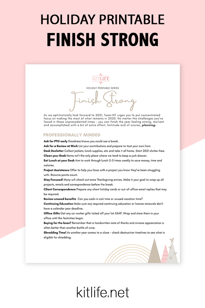 Free Printable Holiday Series | Finish Strong