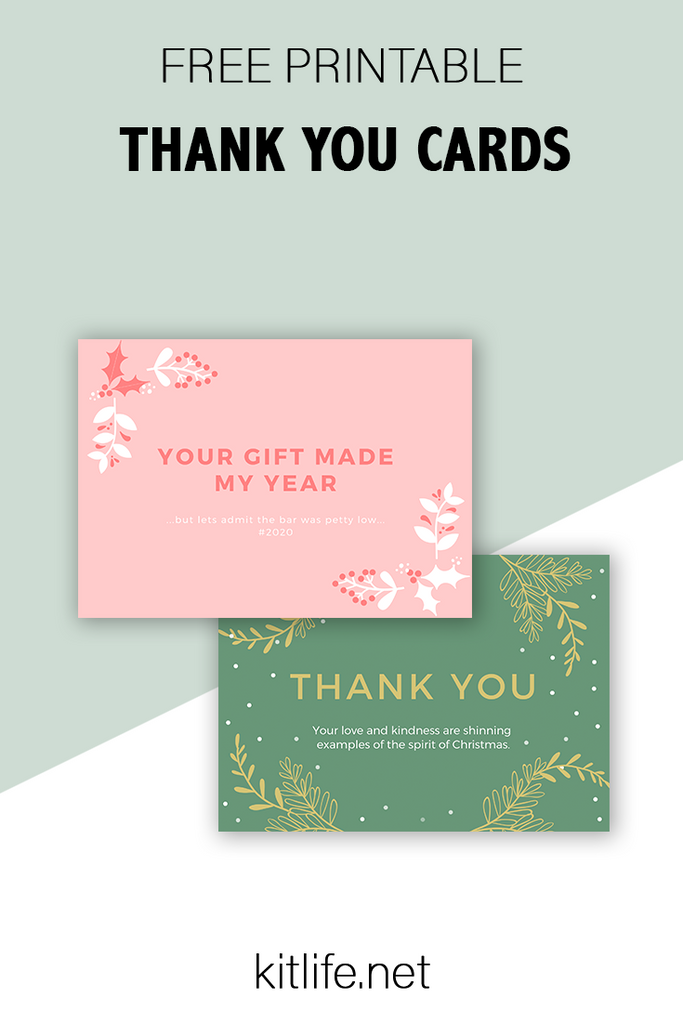 Free Printable Holiday Series | Thank You Notes