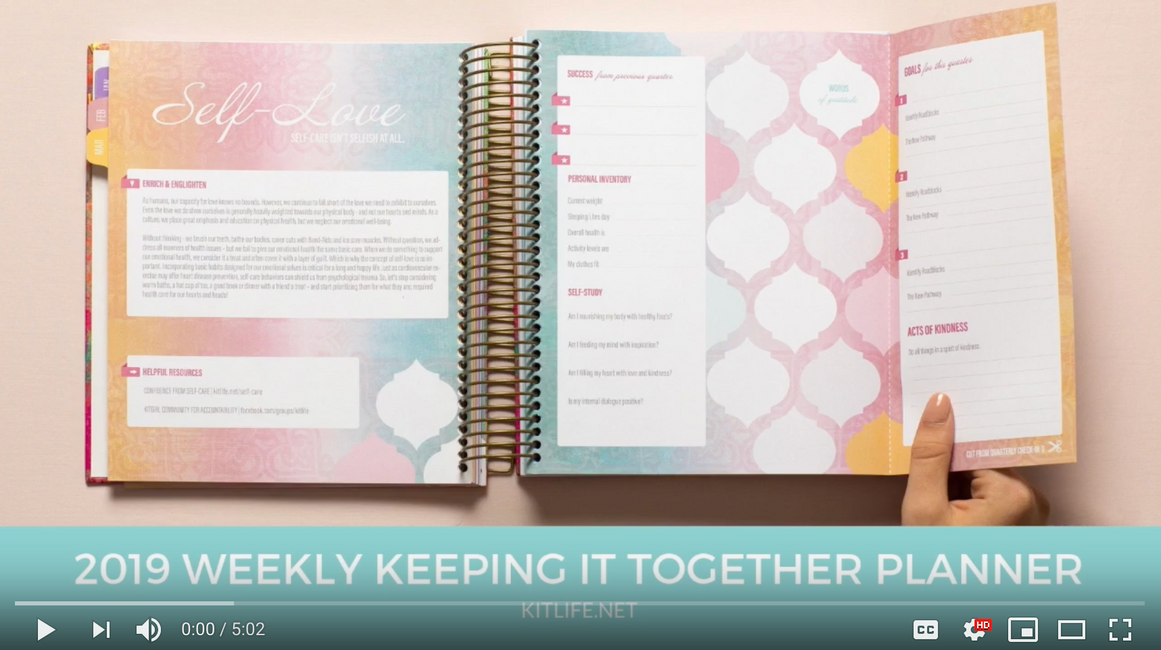 2019 Weekly Planner Walkthrough
