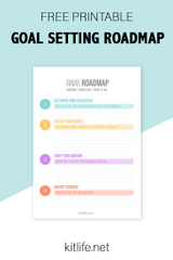 Free Printable |  Goal Roadmap