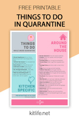 Free Printable |  Things to Do While In Quarantine