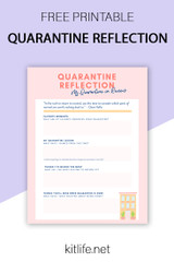 Free Printable | Quarantine Reflection