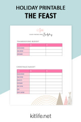 Free Printable Holiday Series | Gift Tracking and Holiday Budget