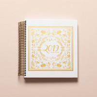 2019 weekly keeping it together planner - white and gold foil cover