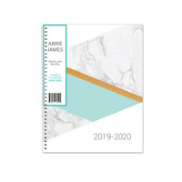 2019-2020 Abrie James by KITLIFE Weekly Academic Planner | Marble